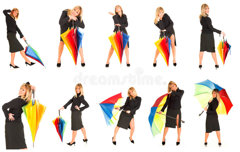Download Young girl with umbrella stock photo. Image of people - 2412894