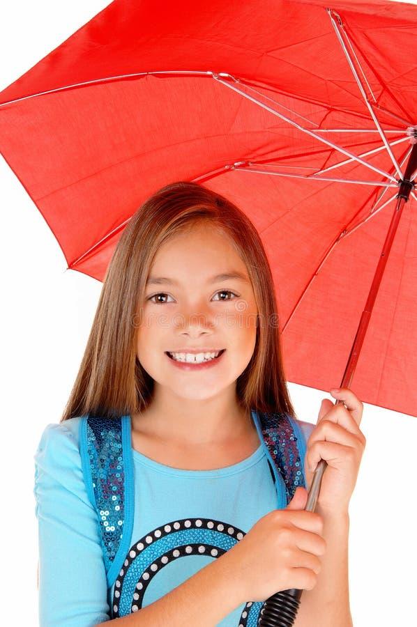 Young girl with umbrella. royalty free stock photos