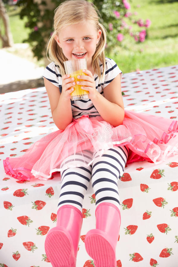 Young Girl Wearing Pink Wellington Boots Royalty Free Stock Photo
