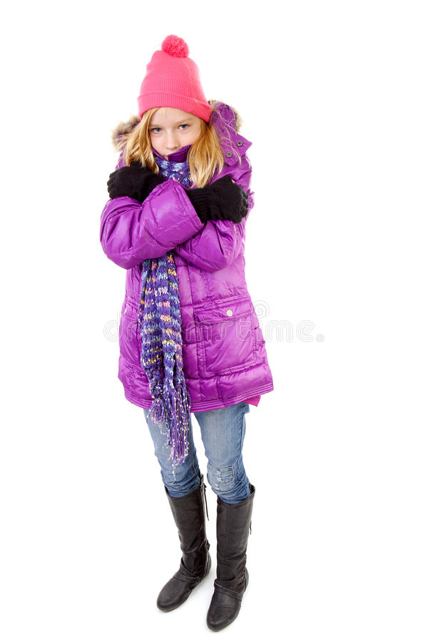 Young Girl In Winter Outfit Stock Photo