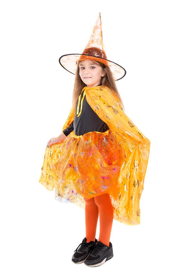 Young girl witch in Halloween royalty free stock image