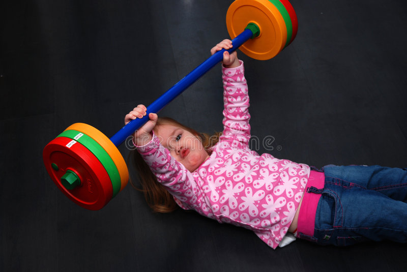 Young Girl Working Out stock images