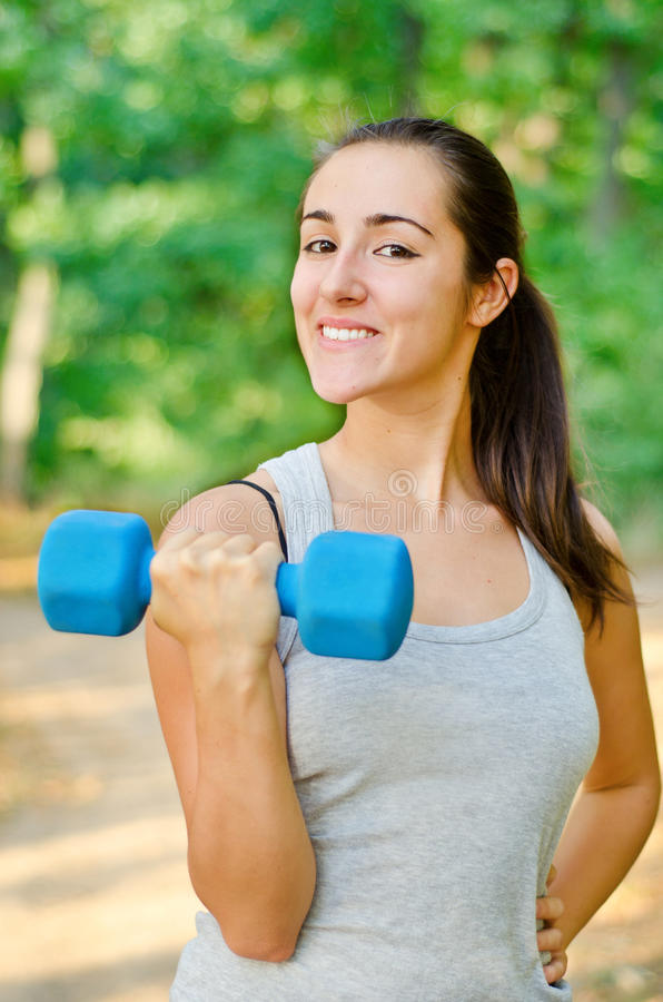 Free Young Girl Workout Stock Photo - 21138690