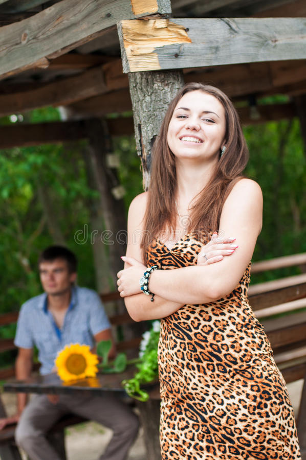 Download Young girl and a young man stock image. Image of affectionate - 32479943