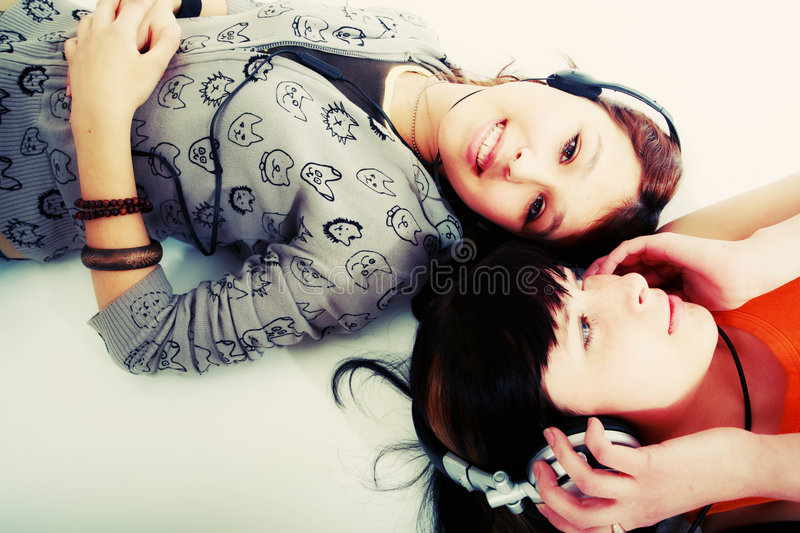 Young girls royalty free stock photo