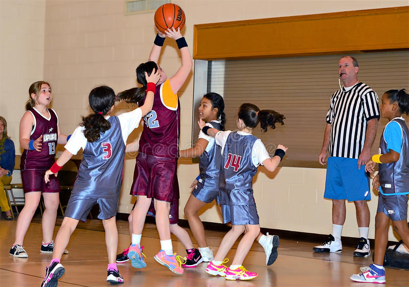 Young Girls Basketball stock photos