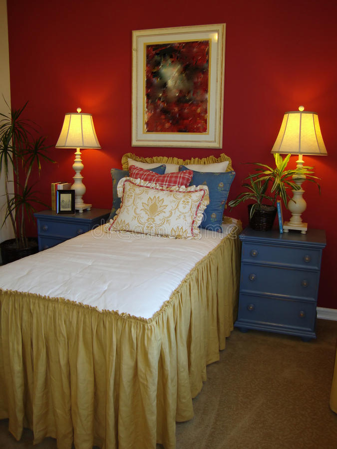 Download Young Girls Bed Room stock photo. Image of decor, walls - 10447714