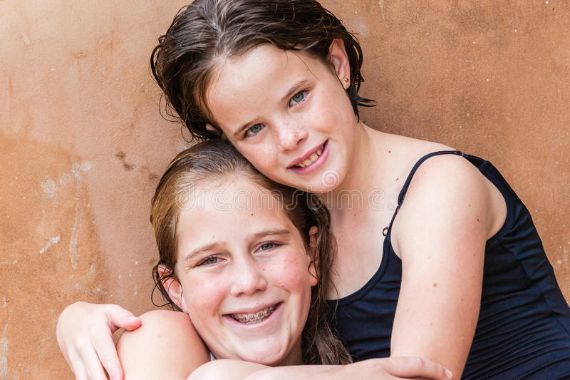 Download Young Girls Cousins Hugs stock photo. Image of colors - 30961632