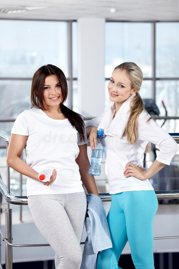 Download Young Girls In Fitness Club Stock Photo - Image of equipment, suit: 14176280