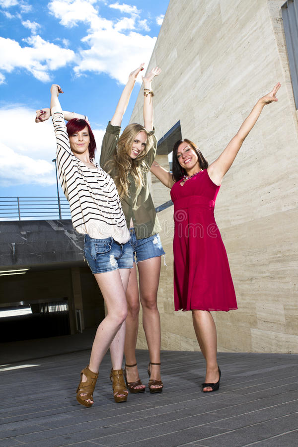 Young girls having fun royalty free stock image