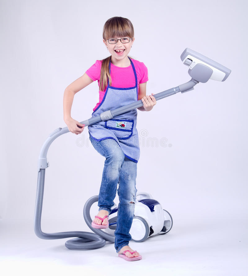 Download Young housewife stock image. Image of carpet, jeans, electrical - 29984205