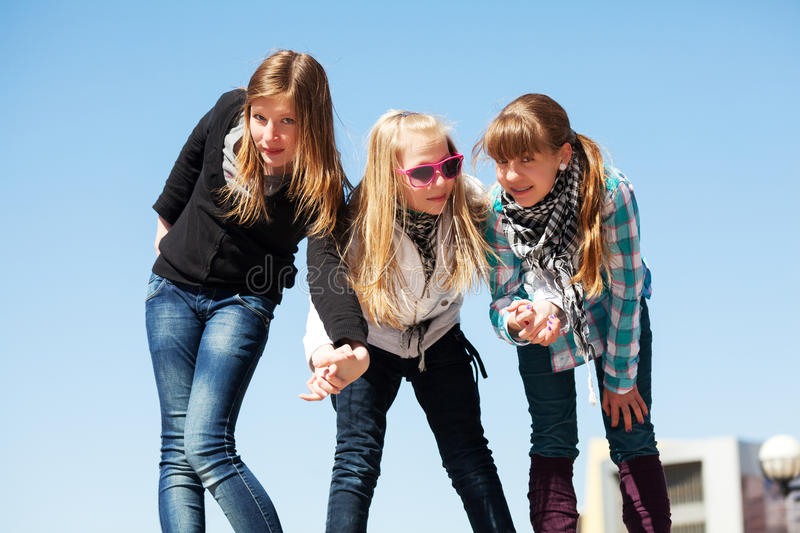 Download Young girls having a fun stock photo. Image of outdoor - 33476270