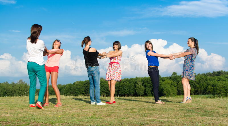 Young girls playing royalty free stock photography