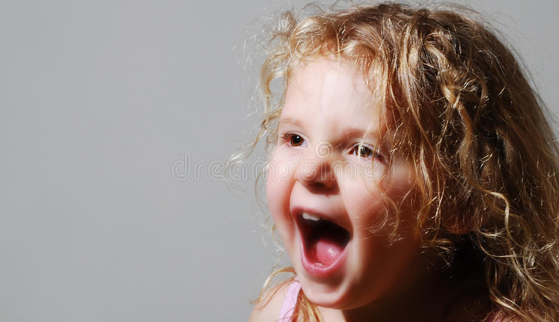 Young girls screaming royalty free stock images