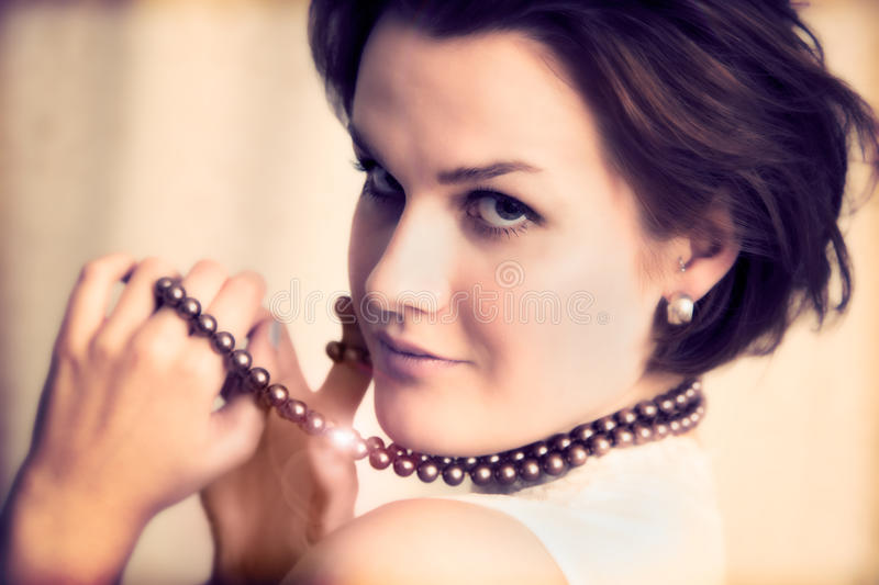 Download Young Glamour Lady With Necklace Stock Photo - Image: 25562696