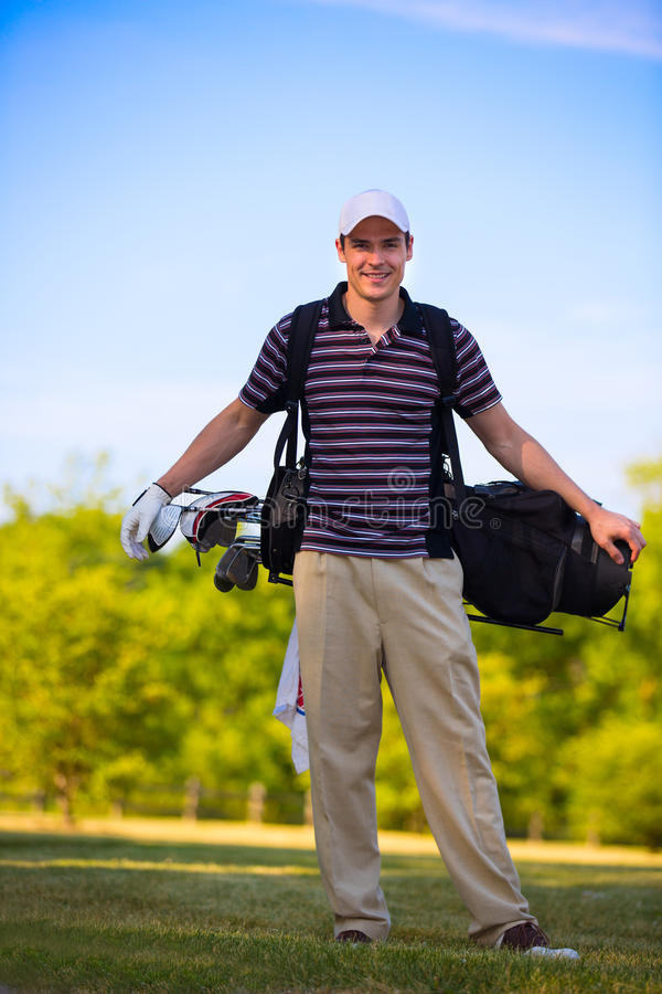 Download Young Golfer Swing Club stock image. Image of green, activity - 25683553