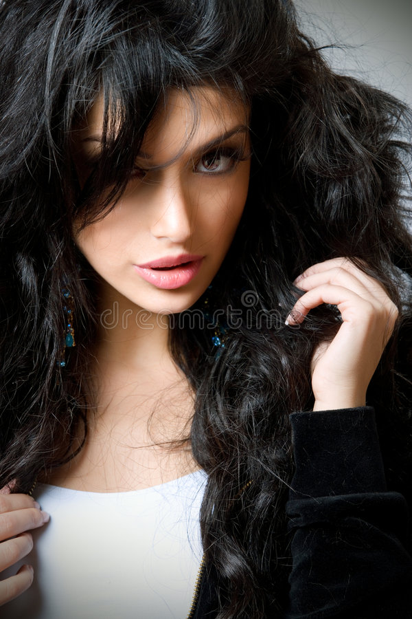 Young gorgeous brunette royalty free stock photos