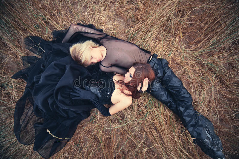 Download Young goth couple outdoors stock photo. Image of style - 15918828