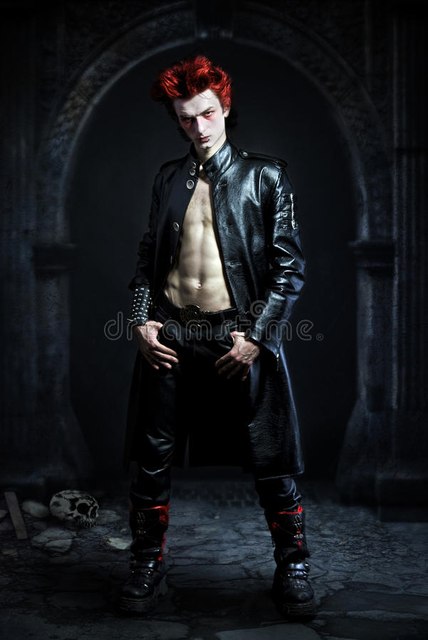 Free Young Goth With A Red Hair Royalty Free Stock Photos - 13571218