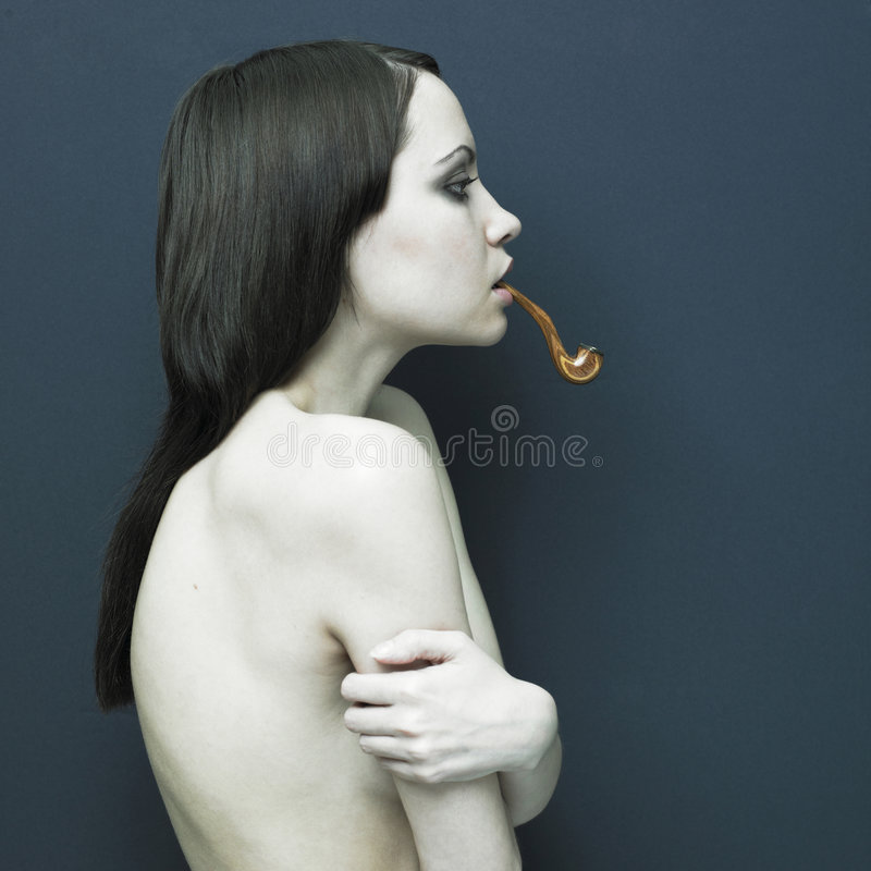 Download Young Graceful Lady With Tube Royalty Free Stock Image - Image: 9092866