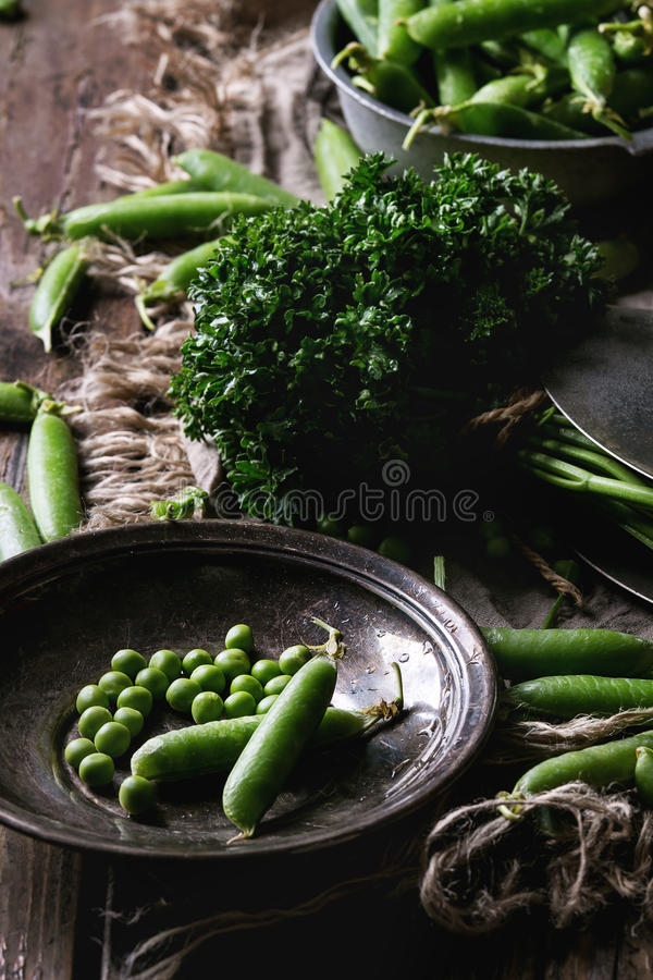 Young green peas royalty free stock photo