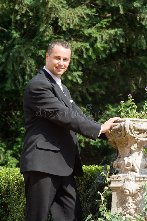 Young groom royalty free stock photography