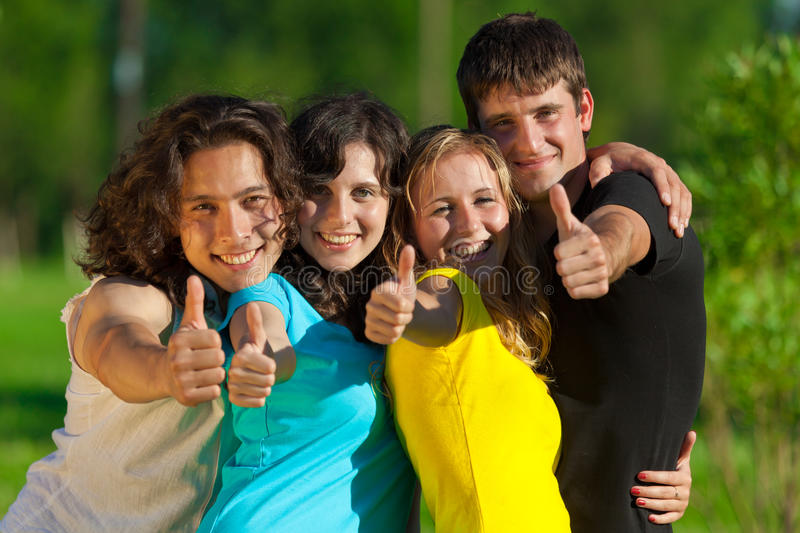 Download Young Group Of Happy Friends Stock Image - Image: 16599315