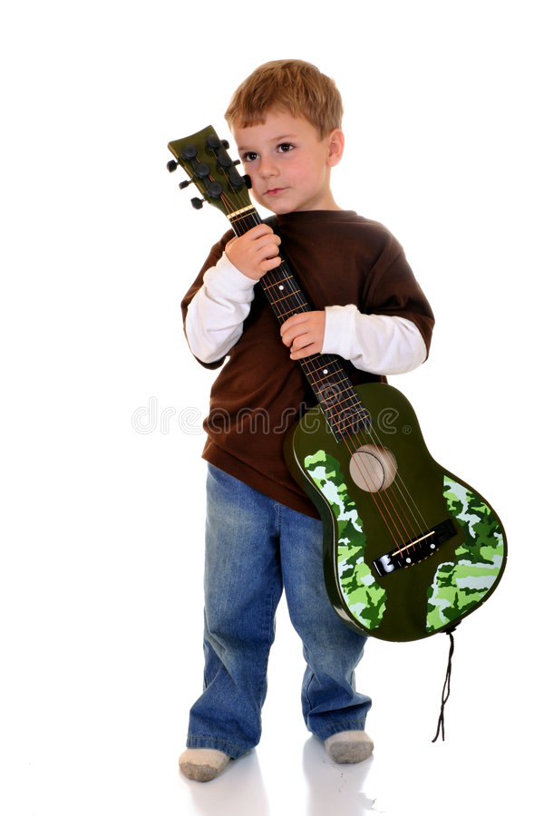 Young Guitar Player stock photo