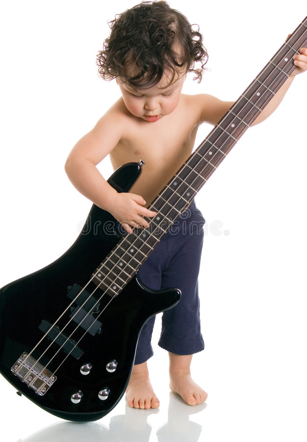 The Young Guitarist. Royalty Free Stock Photography