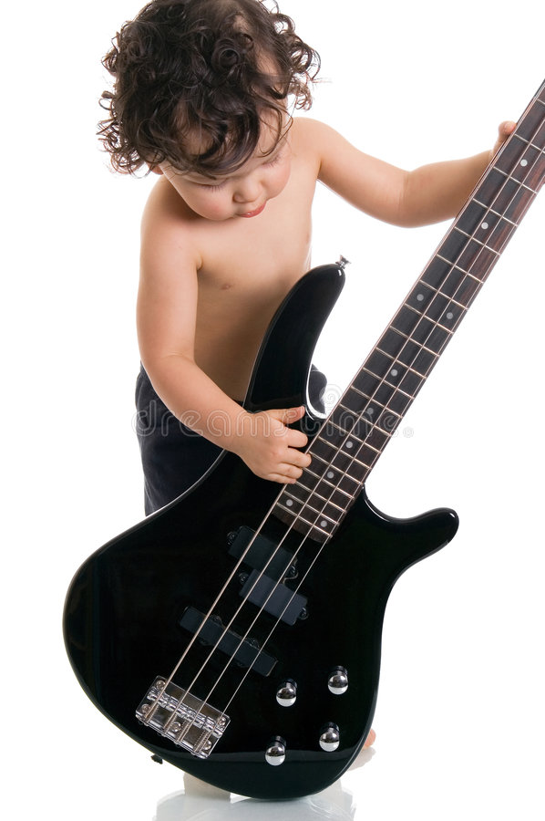 The Young Guitarist. Royalty Free Stock Images