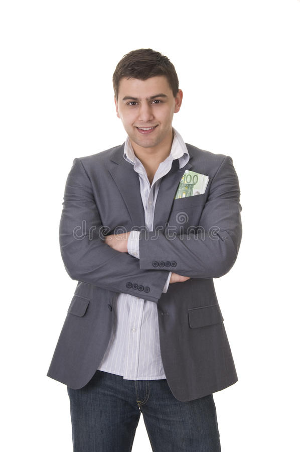 Download Young Guy In Casual Style With Cash Royalty Free Stock Images - Image: 18543509
