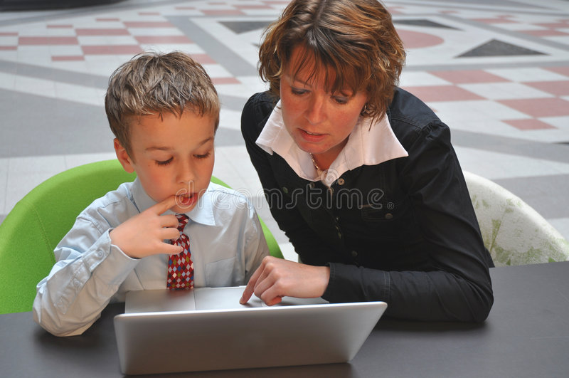 Young guy preparing for his interview stock images