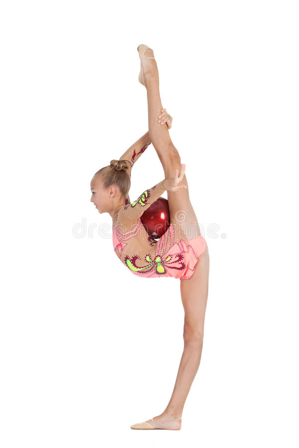 Young gymnast royalty free stock photos