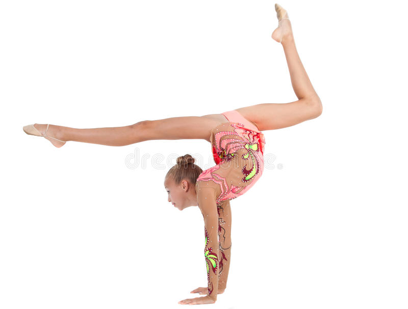 Young gymnast stock photos