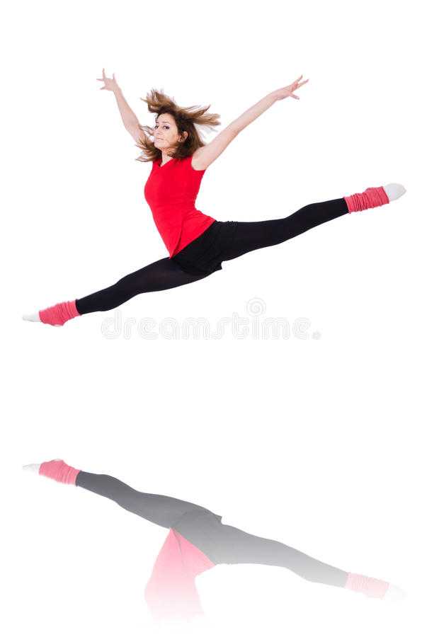 Download Young gymnast exercising stock image. Image of attractive - 30834773
