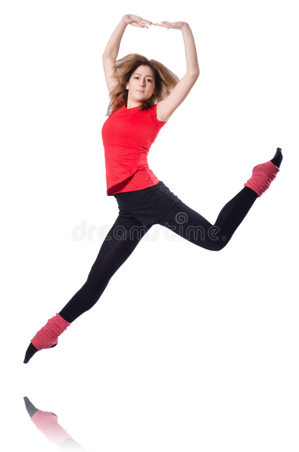 Download Young gymnast exercising stock image. Image of action - 31181277