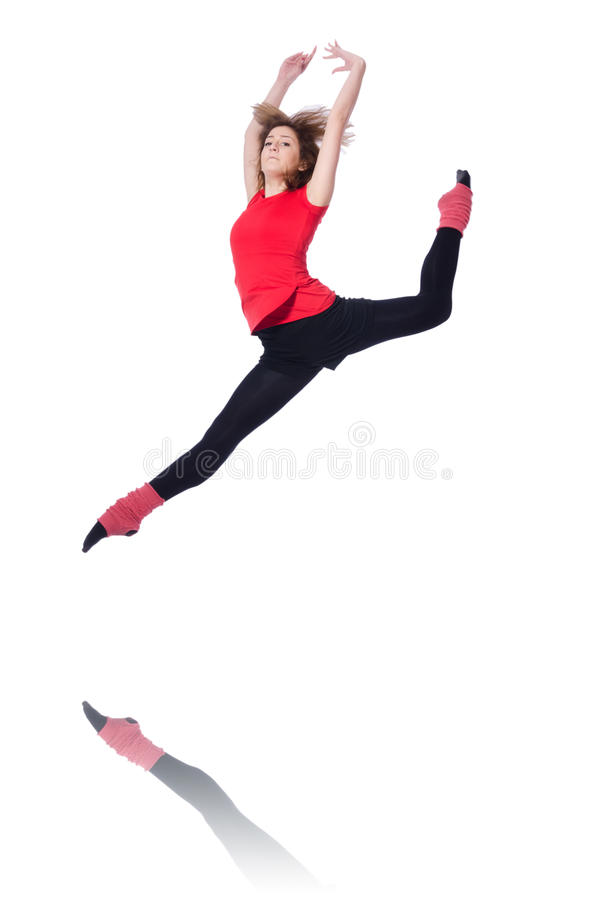 Download Young gymnast exercising stock photo. Image of elegance - 31601266