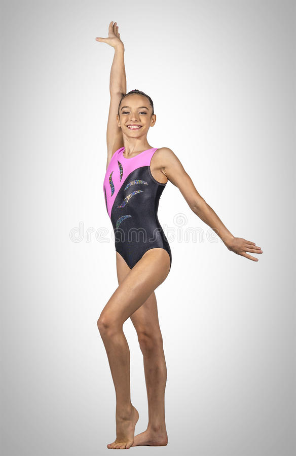 Free Young Gymnast Girl Royalty Free Stock Images - 53255149
