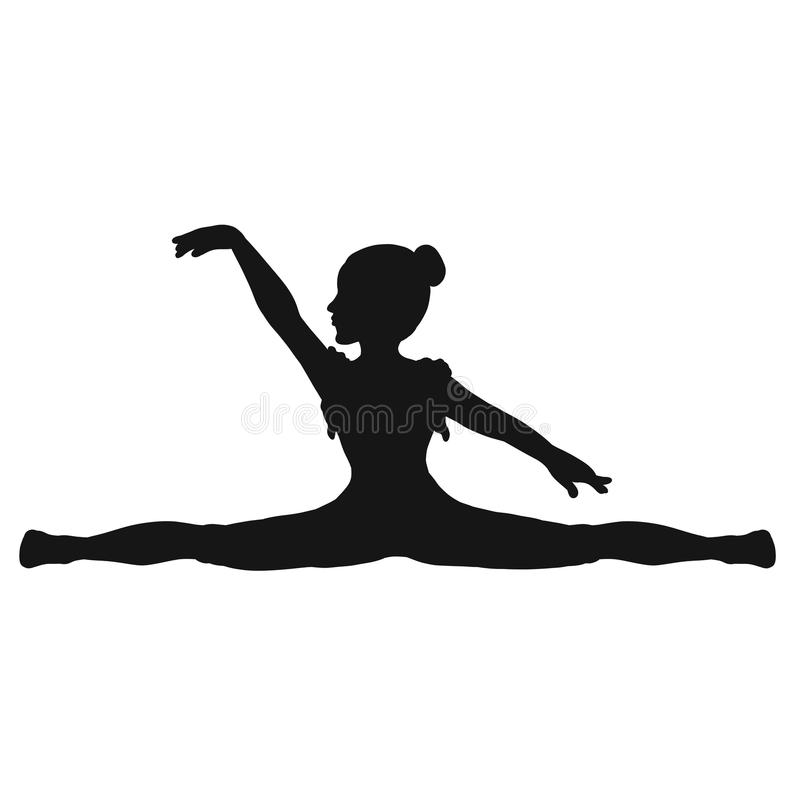 Young gymnast on a string.  vector illustration