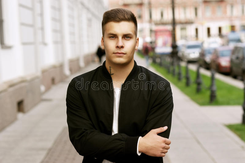 Young hadsome man stock photo