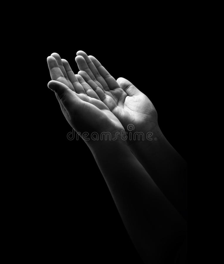 Young Hands Praying stock photo