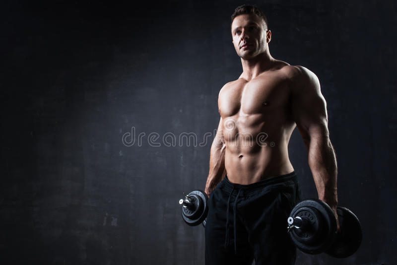 Young handsome athlete royalty free stock image