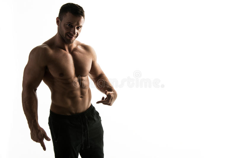 Young handsome athlete stock photo