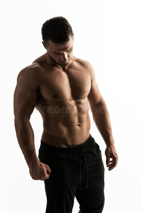 Young handsome athlete royalty free stock images