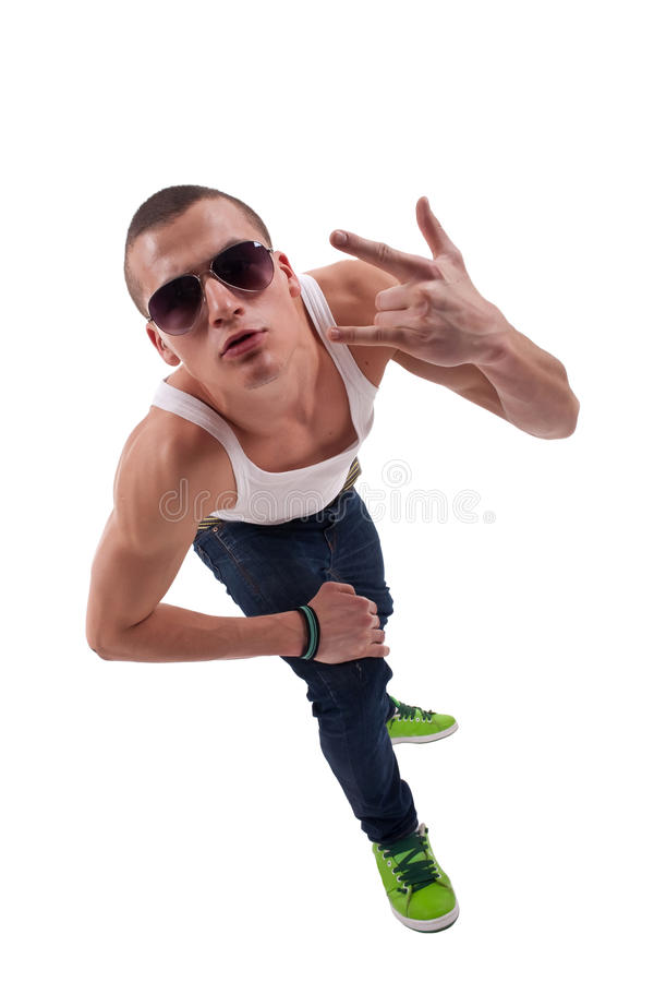 Young handsome fashion man royalty free stock image
