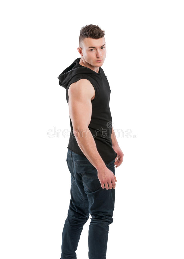 Young and handsome male mode stock photography