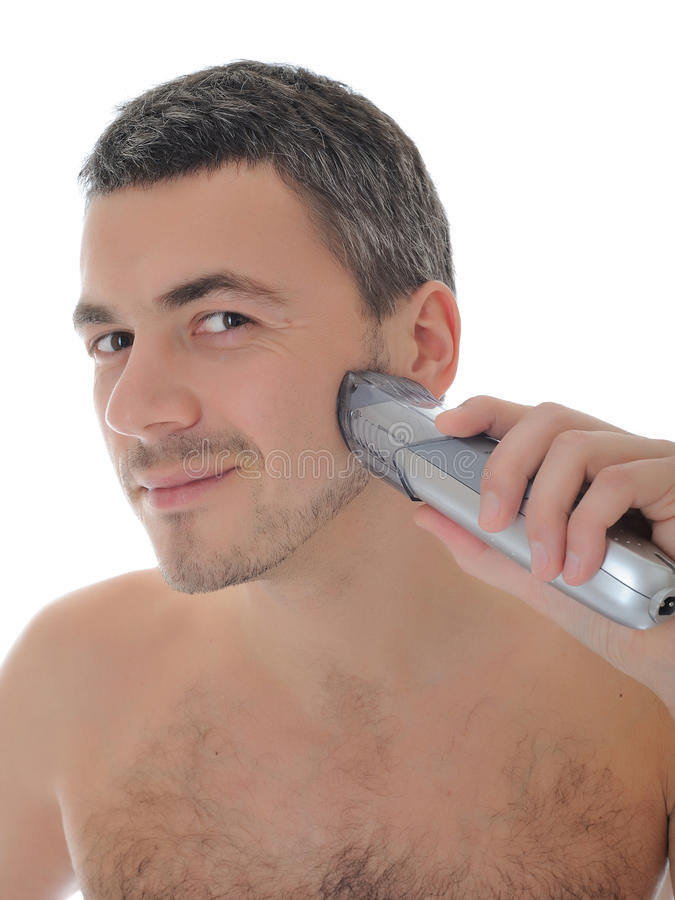 Download Young Handsome Male Shaving Face Beard Stock Image - Image: 18800819