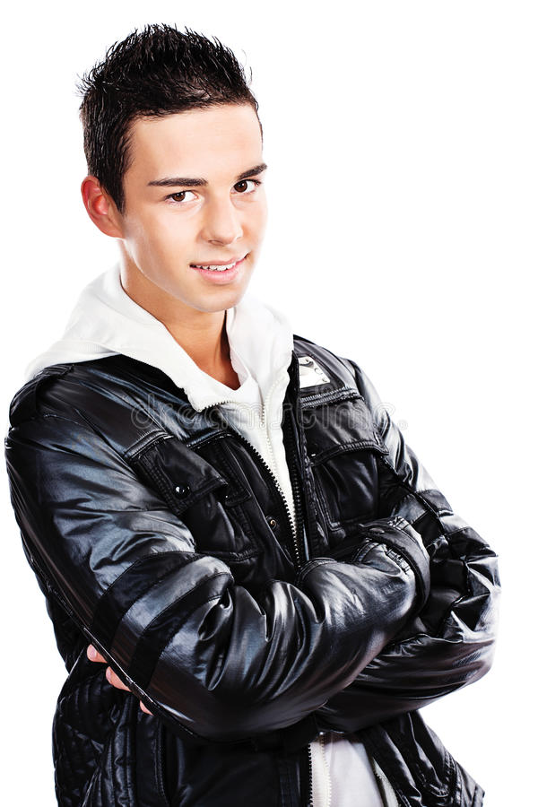 Download Young handsome man stock photo. Image of jacket, smile - 22586168