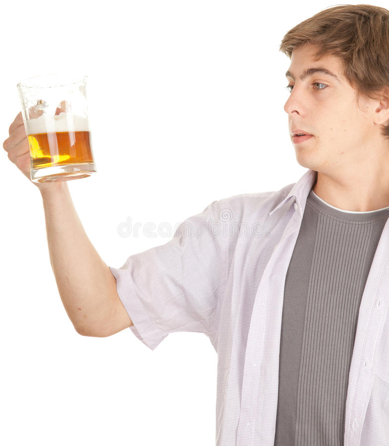 Download Young Handsome Man With Beer Stock Image - Image: 21371927
