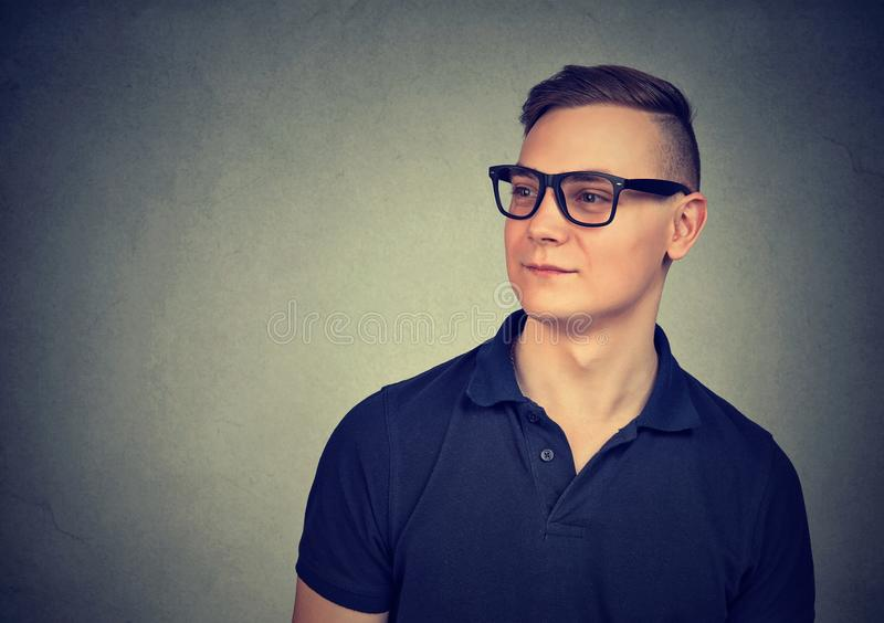 Young handsome man in eyeglasses stock photography